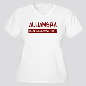 Alhambra (been there) Women's Plus Size V-Neck T-S