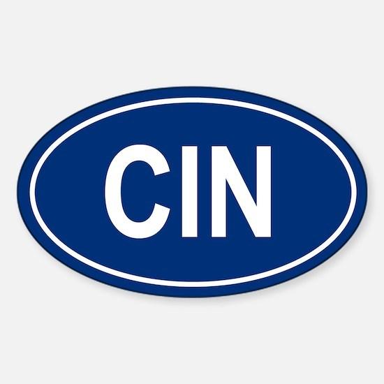 CIN Oval Decal