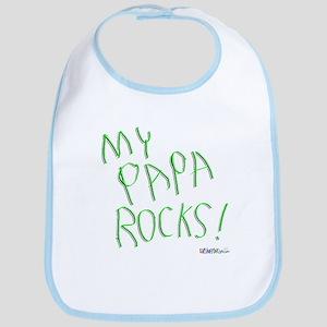 My Papa Rocks ! Bib