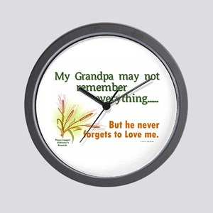 Never Forgets To Love 2 (Grandpa) Wall Clock