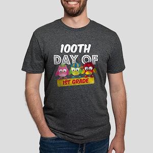Owl 100 Days 1st Grade Mens Tri-blend T-Shirt