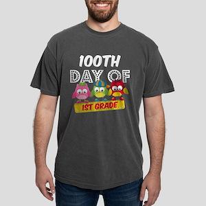 Owl 100 Days 1st Grade Mens Comfort Colors Shirt