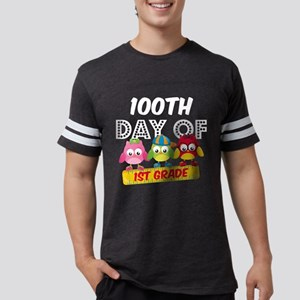 Owl 100 Days 1st Grade Mens Football Shirt
