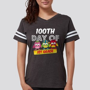 Owl 100 Days 1st Grade Womens Football Shirt