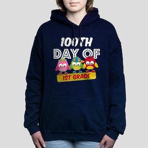 Owl 100 Days 1st Grade Women's Hooded Sweatshirt