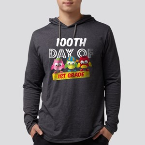 Owl 100 Days 1st Grade Mens Hooded Shirt