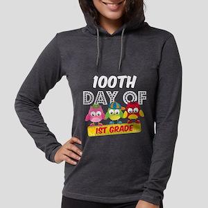 Owl 100 Days 1st Grade Womens Hooded Shirt