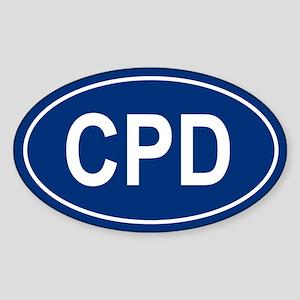 CPD Oval Sticker