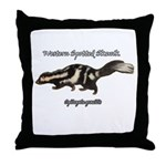 Western Spotted Skunk Throw Pillow