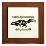 Western Spotted Skunk Framed Tile