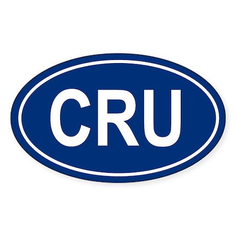 CRU Oval Sticker
