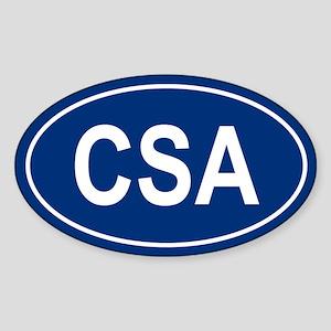 CSA Oval Sticker