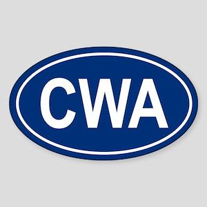 CWA Oval Sticker