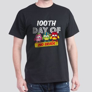 Owl 100 Days 2nd Grade Dark T-Shirt
