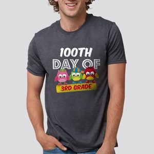 Owl 100 Days 3rd Grade Mens Tri-blend T-Shirt