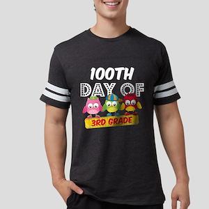Owl 100 Days 3rd Grade Mens Football Shirt