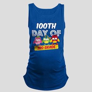 Owl 100 Days 3rd Grade Maternity Tank Top