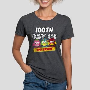 Owl 100 Days 3rd Grade Womens Tri-blend T-Shirt