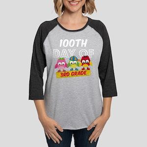 Owl 100 Days 3rd Grade Womens Baseball Tee