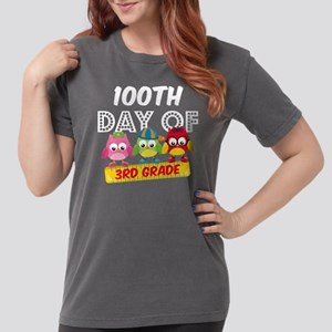 Owl 100 Days 3rd Grade Womens Comfort Colors Shirt