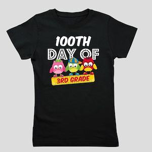 Owl 100 Days 3rd Grade Girl's Tee