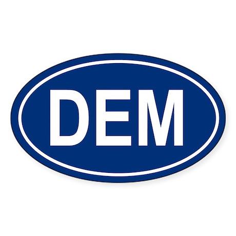 DEM Oval Sticker