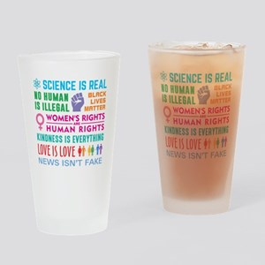 Anti-Trump Resist Drinking Glass