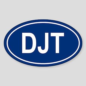 DJT Oval Sticker