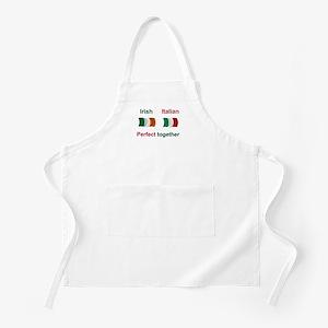 Italian Irish Together BBQ Apron