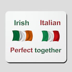 Italian Irish Together Mousepad