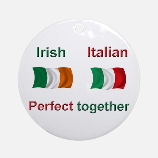 Italian Irish Together Ornament (Round)