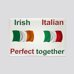 Italian Irish Together Rectangle Magnet