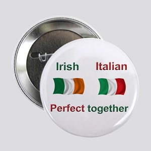 "Italian Irish Together 2.25"" Button"