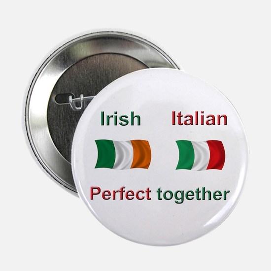 "Italian Irish Together 2.25"" Button"
