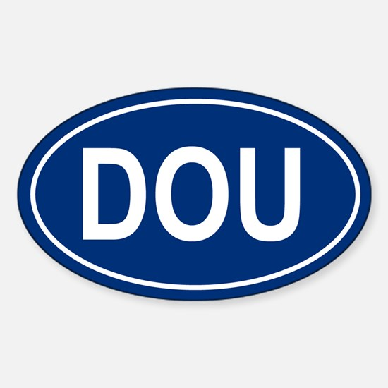 DOU Oval Decal