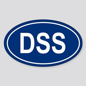 DSS Oval Sticker