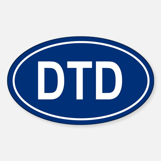 DTD Oval Decal