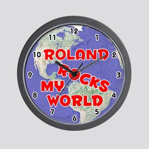 Roland Rocks My World (Red) Wall Clock