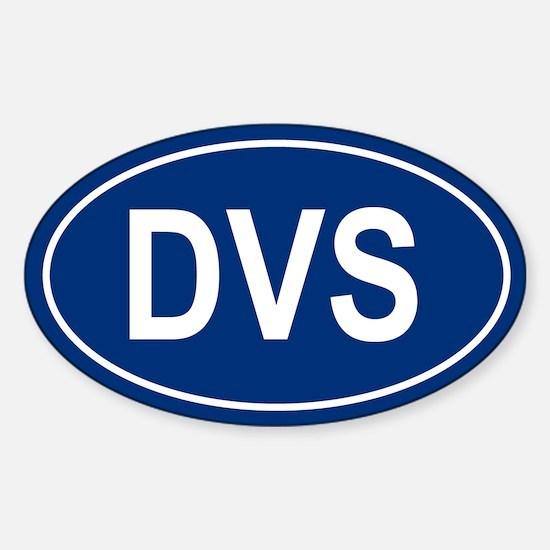 DVS Oval Decal