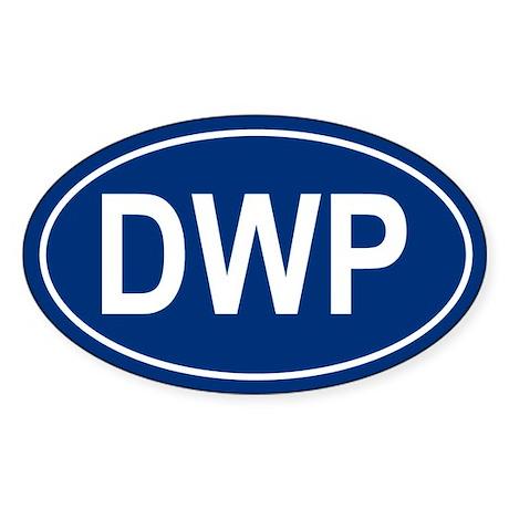 DWP Oval Sticker