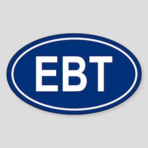EBT Oval Sticker