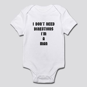 """I don't need directions, I'm a man"" Infant Bodysu"