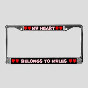 My Heart: Myles (#002) License Plate Frame