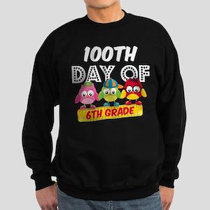Owl 100 Days 6th Grade Sweatshirt (dark)