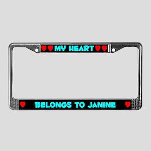 My Heart: Janine (#003) License Plate Frame