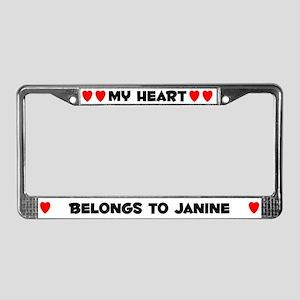 My Heart: Janine (#004) License Plate Frame