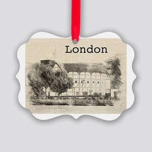 Globe Theater Picture Ornament