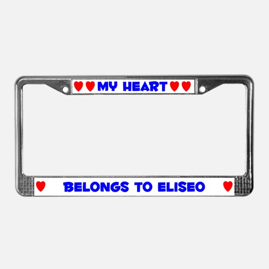 My Heart: Eliseo (#005) License Plate Frame