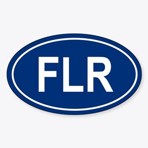 FLR Oval Sticker