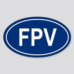 FPV Oval Sticker